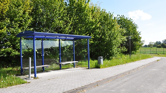 Our bus stop on the other side of the museum near the Paderborn Village.